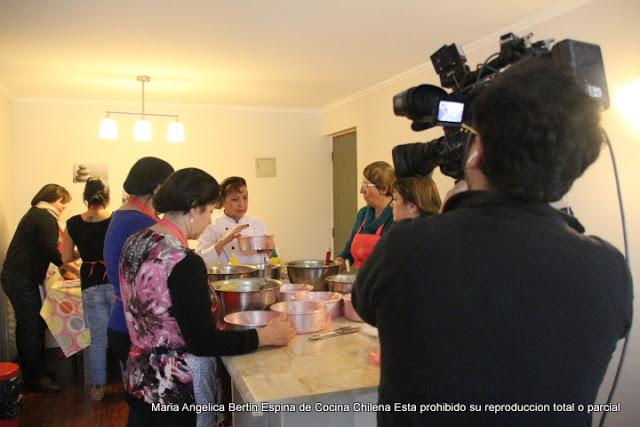 REPORTAJE DE CANAL CHILENO MEGA A MI PAGINA COCINA CHILENA